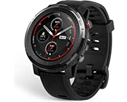 Amazfit Stratos 3 Smartwatch Sports Watch with 1.34 Inch MIP Display, 19 Sports Modes, GPS and Music Storage, 5 ATM Waterproo