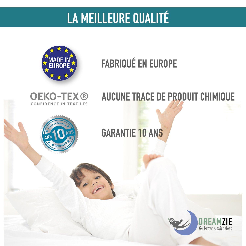 dreamzie coprimaterasso impermeabile  Dreamzie Coprimaterasso Impermeabile Matrimoniale (160 x 190/200 cm ...