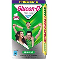 Glucon D Instant Energy Health Drink Regular - 450gm Refill (Extra 50gm Free)