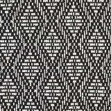 Fabulous Fabrics Strickstoff Raute Ikat – schwarz/wollweiss — Meterware ab 0,5m — zum Nähen von Strickjacken, Strickpullovern und Mützen