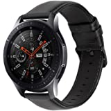 iBazal Bracelets Galaxy Watch 46mm Cuir 22mm Bandes Compatible avec Samsung Galaxy Watch 3 45mm/Gear S3 Frontier Classic Band