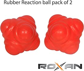 Roxan Reaction Ball Pack of for Cricket Catching Practice/co-Ordination Practice Rubber Reaction Ball Orange Color