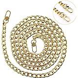 Tasche Kette, Metall Schultergurt für Taschen Taschenhenkel Riemen für Taschen Taschenkette Gold, Damen Handtaschen Kette Sch