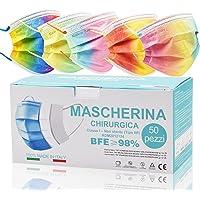 50 Stück OP Masken bunt, Einwegmasken für Erwachsene, CE zertifiziert Mundschutz medizinisch bunt, medizinischer…