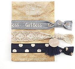 PURELEI Damen Armband (Elastisch & Größenverstellbar) als Haargummi Nutzbar (Handgefertigt)