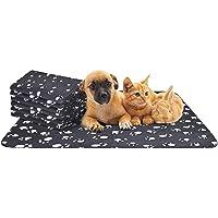 Nobleza - 6 x Dog Blanket Cat Cushion Puppy Kitten Sleep Pad Mat Pet Bed Cover Washable Warm Soft Fluffy Fleece Blankets Black75*75cm