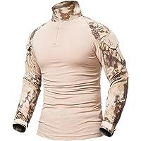 ShallGood Minetom Uomo Camicia Militare Combattere Sottile in Forma Maglietta Lungo Manica Combat Tattica Airsoft…