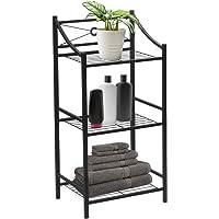 Sorbus Bathroom Storage Shelf, 3-Tier Freestanding Toilet Storage Shelves — Display Bath Essentials, Planters, Books (3…