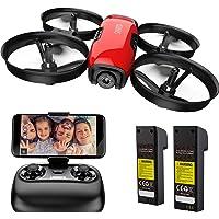 SANROCK U61W Mini Drone con Telecamera 720P HD FPV con 2 Batterie, Protezione dell'elica, Droni Telecomandati per Principianti e Bambini, Mantenimento dell'altitudine, Modalità Senza Testa