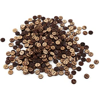 10mm Coconut Shell brown Buttons 2 Hole Pack of 10 Buttons