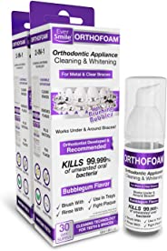 OrthOfoam Braces Cleaner- Cleans Under Metal, Ceramic or Clear Brackets & Wires. Can Brush or Rinse With & Use in Trays. Foa