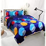 PRIDHI 180 TC Indian Glace Cotton Double Bedsheet with2 Pillow Cover(fastcolour25_ 90*100 inch)