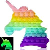 Luximi - Pop it Fluo LlCORNE - Fidget toy - Popit jeu anti stress enfant - Arc en ciel pastel - Push pop bubble - Jouet…
