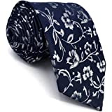 shlax/&wing Cravatta da uomo Paisley Navy Arancione Seta Designer Classic