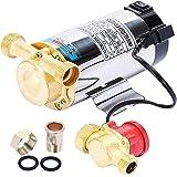 VEVOR Bomba de Refuerzo de Presión de Agua, Flujo Máximo 20 L/min, Bomba Circuladora Automática, 90 W, Bomba de Agua, para Me