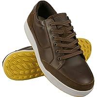 Zerimar Chaussure de Golf en Cuir | Chaussure de Sport Hommes | Chaussures de Golf | Golf Chaussures Cuir | Sport Golf…