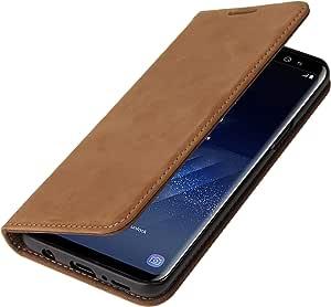 Wormcase Echtleder Handytasche Kompatibel Mit Samsung Elektronik