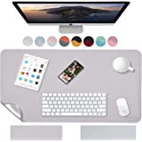 Weelth - Alfombrilla de Ratón 600x350mm, Estera de escritorio Antideslizante e Impermeable Cuero PU, Alfombrilla de escritori