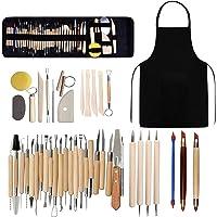 Kit d'outils poterie, argile polymère céramique, kit sculpture, modelage, poterie, d'argile sculpture avec sac rangement…