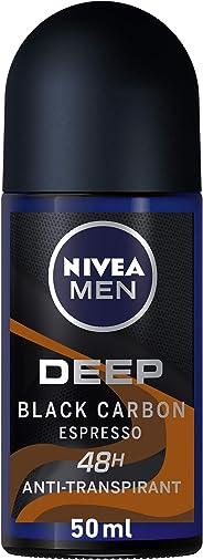 NIVEA Deodorant for Men, Deep Espresso, Roll On, 50 ml