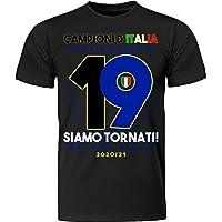 digitalprint - crea e stampa il tuo abbigliamento T-Shirt Maglia Maglietta Neroazzurri Vittoria Campioni d'Italia 2021…