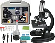 AmScope M30-ABS-KT51 51-piece 300x-600x-1200x Metal Frame Kids Student Beginner Compound Microscope