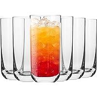 Krosno Verre à Eau Jus Long-Drink   Lot de 6   360 ML   Collection Glamour   Parfait la Maison, Les Restaurants, Les…