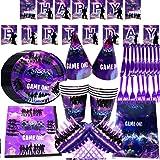 BESLIME Kit de Artículos para Fiesta Forniture per Feste di Compleanno Video Game Birthday Vajilla Desechable y…