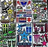6 bogen Aufkleber Zws selbstklebend Stickers rockstar energy drink BMX moto-cross decals Abziehbilder MX