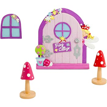 magische fee t r fenster deko set garten deko f r kinder rosa wichtelt r lucy locket. Black Bedroom Furniture Sets. Home Design Ideas