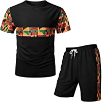 Men Summer Sports Suit Outfits O Neck Short Sleeve T Shirts and Shorts Pieces for Training Workout Fitness Jogger