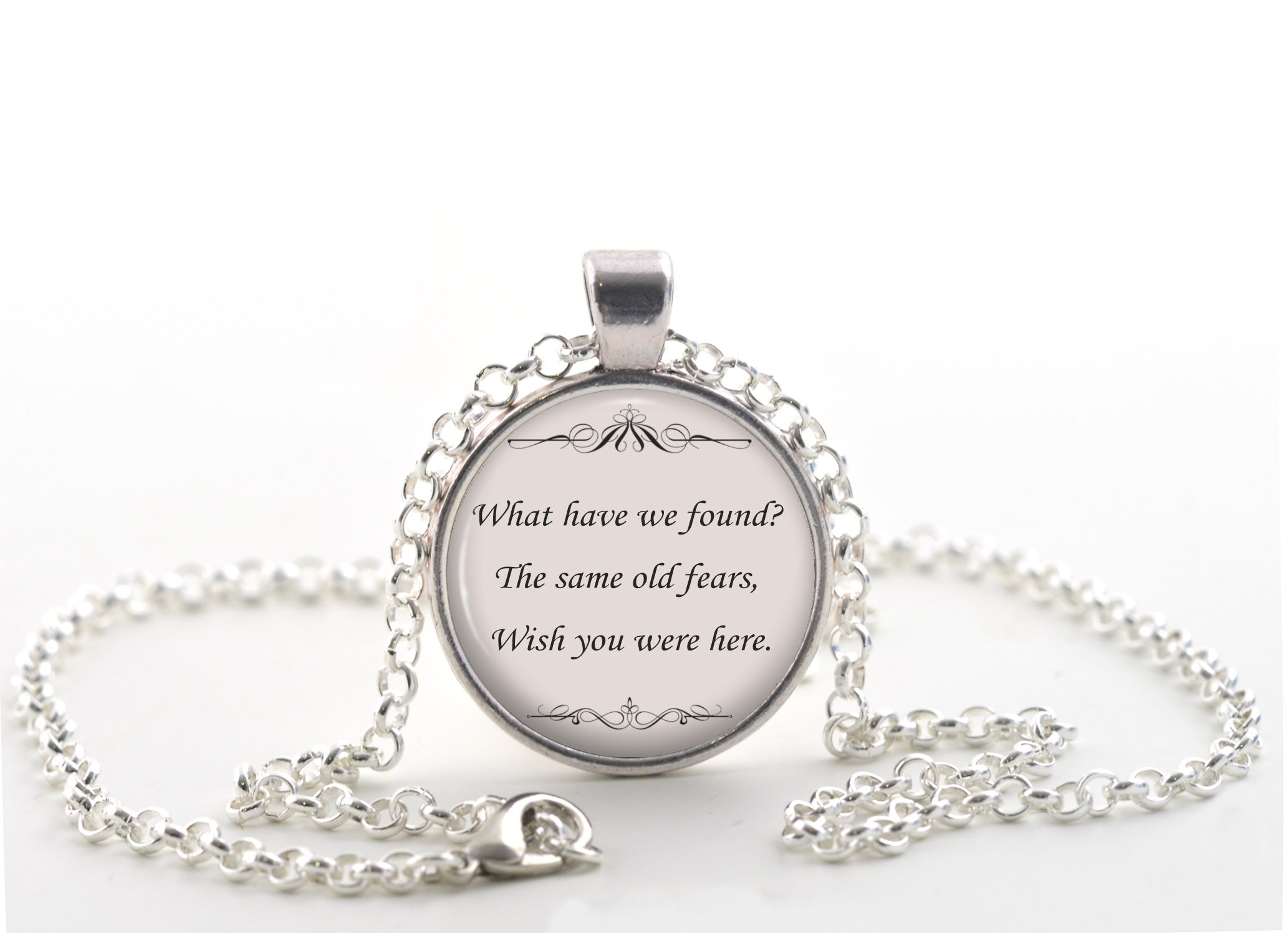 Pink Floyd Quote Necklace, Wish You Were Here Music Song Lyrics