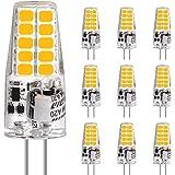 LEDGLE LED lamp G4, 3.5W 20LEDs vervangt 35W halogeenlampen, AC/DC 12V lampen, warm wit 2700K, 350LM geen flikkering, LED lam