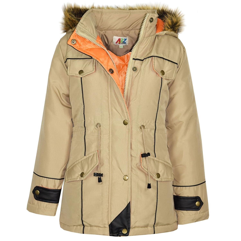 09a6fe47d0c6 A2Z 4 Kids® Kids Coat DESIGNER'S Stone Parka Jacket Long Faux Fur ...