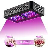 300W LED lampada a doppia ottica coltiva luce leggera per con 2 interruttori per piante interne VEG e Bloom inclusi UV e IR
