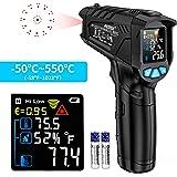 Infrarood Thermometer Digitale Laser Temperatuurmeter Gun MESTEK Contactloze IR Pyrometer -50~550℃ met LCD-verlichting Profes
