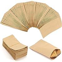 VEGCOO 150 Pcs Sachet Papier Kraft, 6*10cm Petit Sac en Papier Alimentaire, Pochette Cadeau Craft pour Stocker Bonbon…