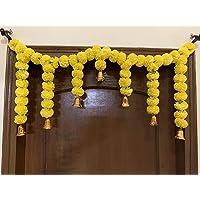 SPHINX Sphinx Artificial Marigold Fluffy Flower Garlands Door Toran Set/Door Hangings for Decoration (Approx. 100 X 41…