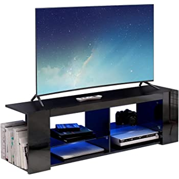 ambiato TV Lowboard Wei/ß matt 4 F/ächer TV Schrank Raumteiler Regal Fernsehschrank Made in Germany