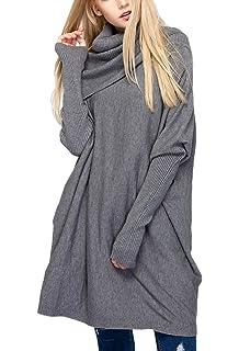 f158c24319 Shallgood Sweatshirt Pulli Bluse Oberteile Tops Damen Langarm Casual Long T- Shirt Lose Sweater Herbst