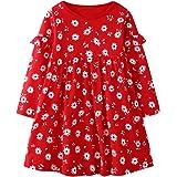 Vestido de niña de 2 a 7 años de Manga Larga para niña, Ropa Diaria de niña, Vestido de otoño