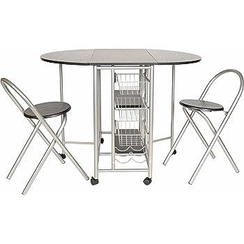 ts-ideen 3er Set Essgruppe Esstisch Küchen-Tisch Frühstückstisch MDF ...