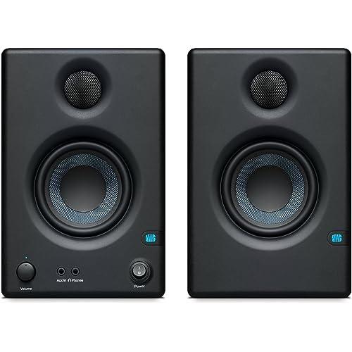 PreSonus ERISE3.5 Monitor di riferimento multimediale professionale con sintonizzazione acustica (coppia), nero