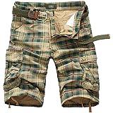 ELETOP Men's Work Short Cargo Camo Combat Short Outdoor Multi Pocket