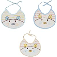 First Trend Baby Round Cotton Bibs Pack of 3