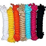 Nakoda Creation Women's Solid Cotton Dupatta (Multicolour, Free Size) - Pack of 7
