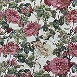 Florales luxuriöses Designer-Gobelingewebe mit Rosen,