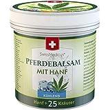 SwissMedicus hästbalsam med hampkylning - massagekräm för muskler och ledband - perfekt för idrottare - naturliga växtextrakt