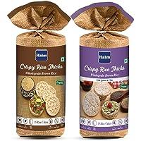 HAIM Organic Wholegrain Brown Rice Cakes & Wholegrain Brown Rice Cakes with Quinoa and Chia Seeds (Pack of 2 )