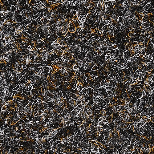 BODENMEISTER BM73501 Teppichboden Nadelfilz Nadelvlies Meterware Objekt schwarz braun 200 cm und 400 cm breit, verschiedene Längen, Variante: 6 x 4 m